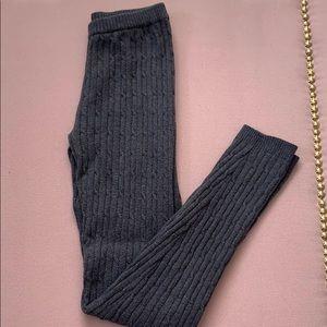 NWOT Kersh Gray Knitted Leggings